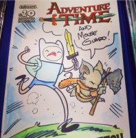 "An ""Adventure Time""/""Mouse Guard"" mash-up by Travis J. Hill"