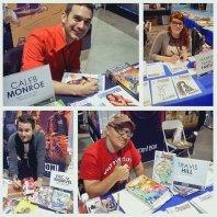 Writer Caleb Monroe, artist Hannah Nance Partlow, writer Eric M. Esquivel & artist Travis J. Hill rounded out BOOM! Studios' Long Beach Comic & Horror Con 2013 talent