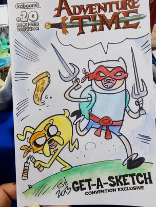 "An ""Adventure Time""/TMNT mash-up by Travis J. Hill"
